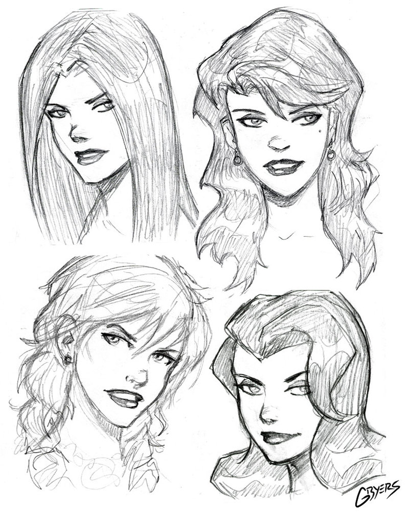 794x1005 Female Hair Drawing Female Hair Drawing Reference