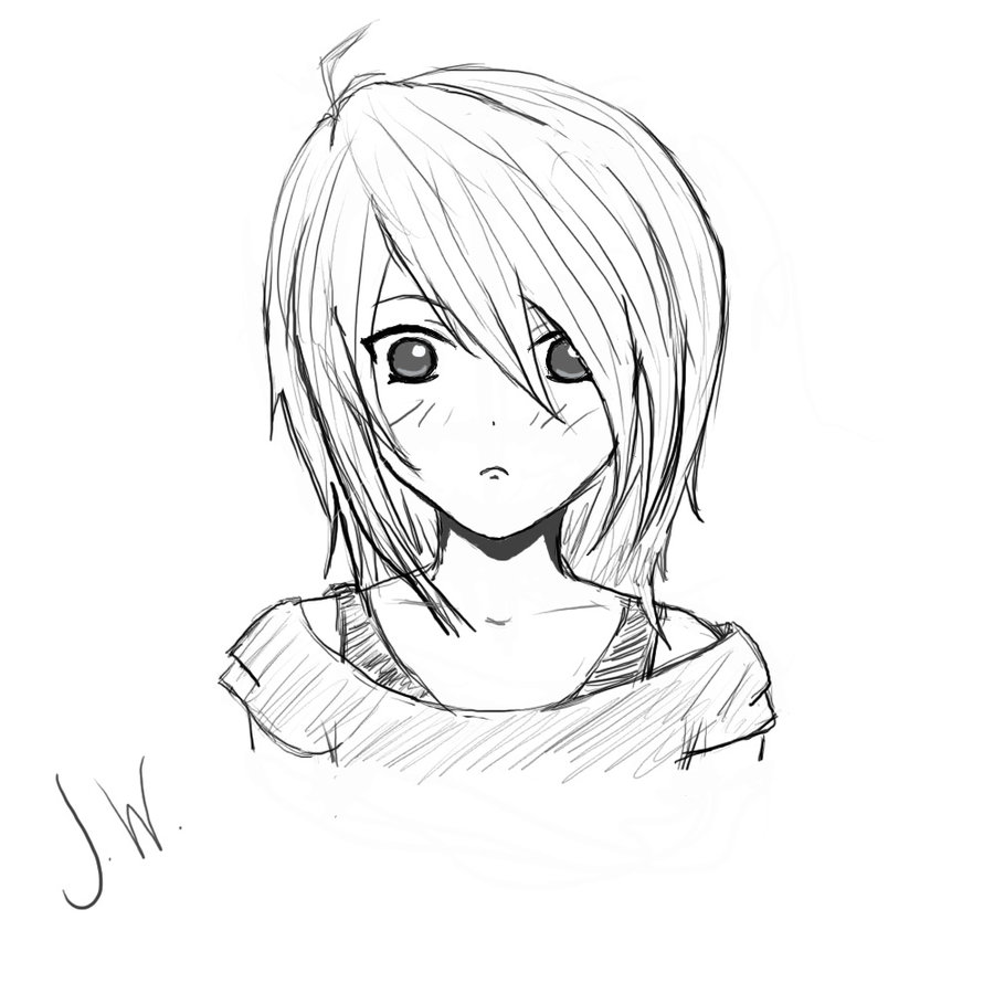 900x900 Girl Sketch By Flamingheart777
