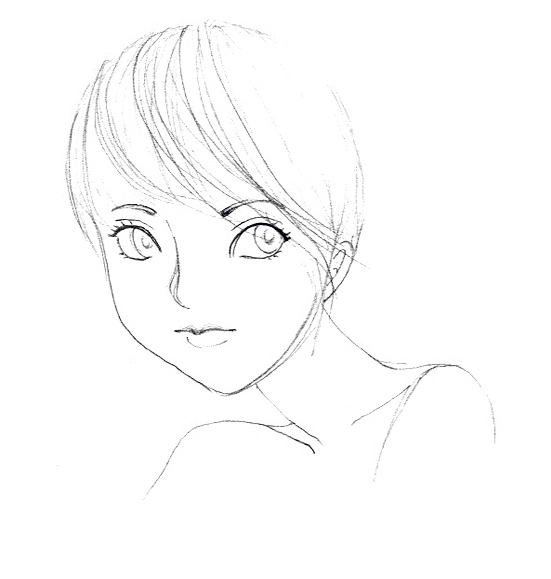 551x579 Girl With Short Hair By Anabelslima