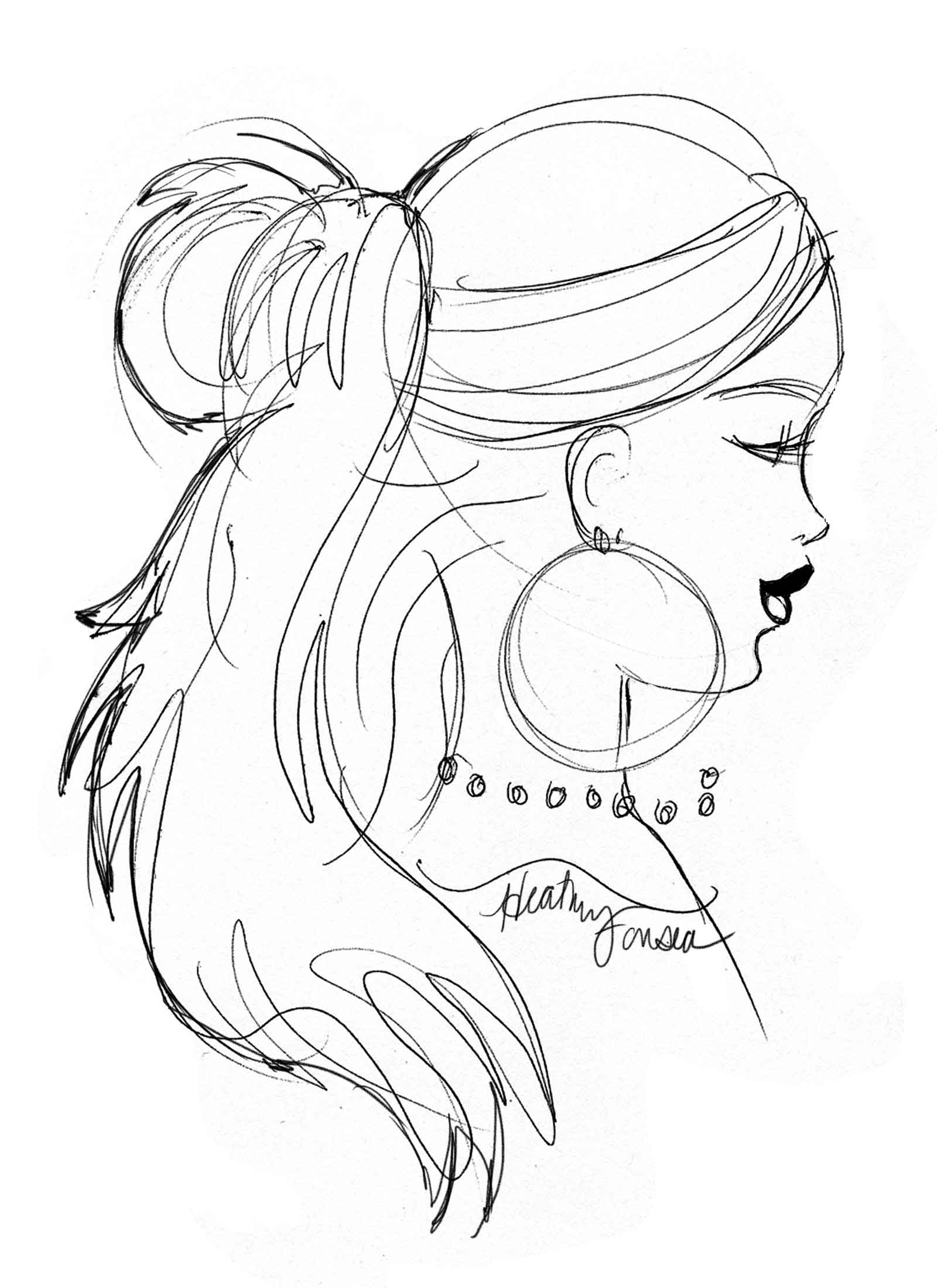 1600x2200 Hairstyle Sketches From Lucky Fabb