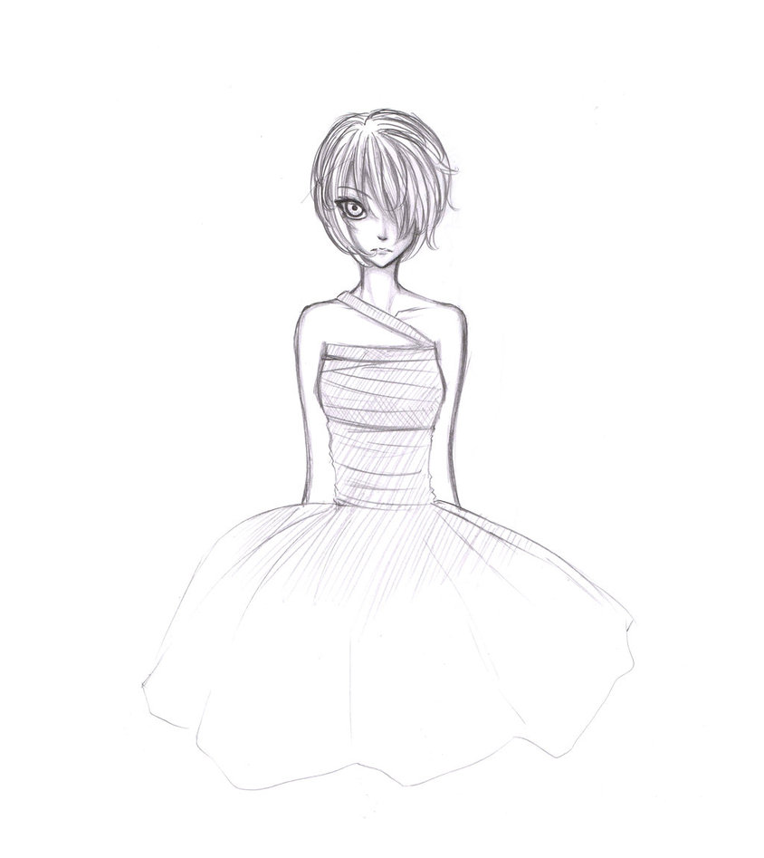 844x947 Short Haired Girl By Samhiel