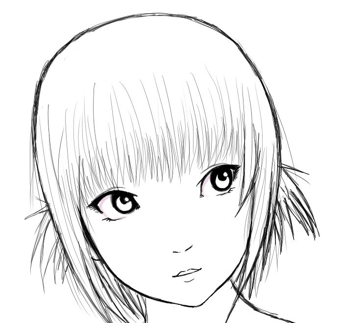 Short Hair Girl Drawing At Getdrawings Com Free For Personal Use
