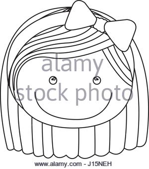 300x339 Sketch Silhouette Teenager With Short Hair And Skirt Stock Vector