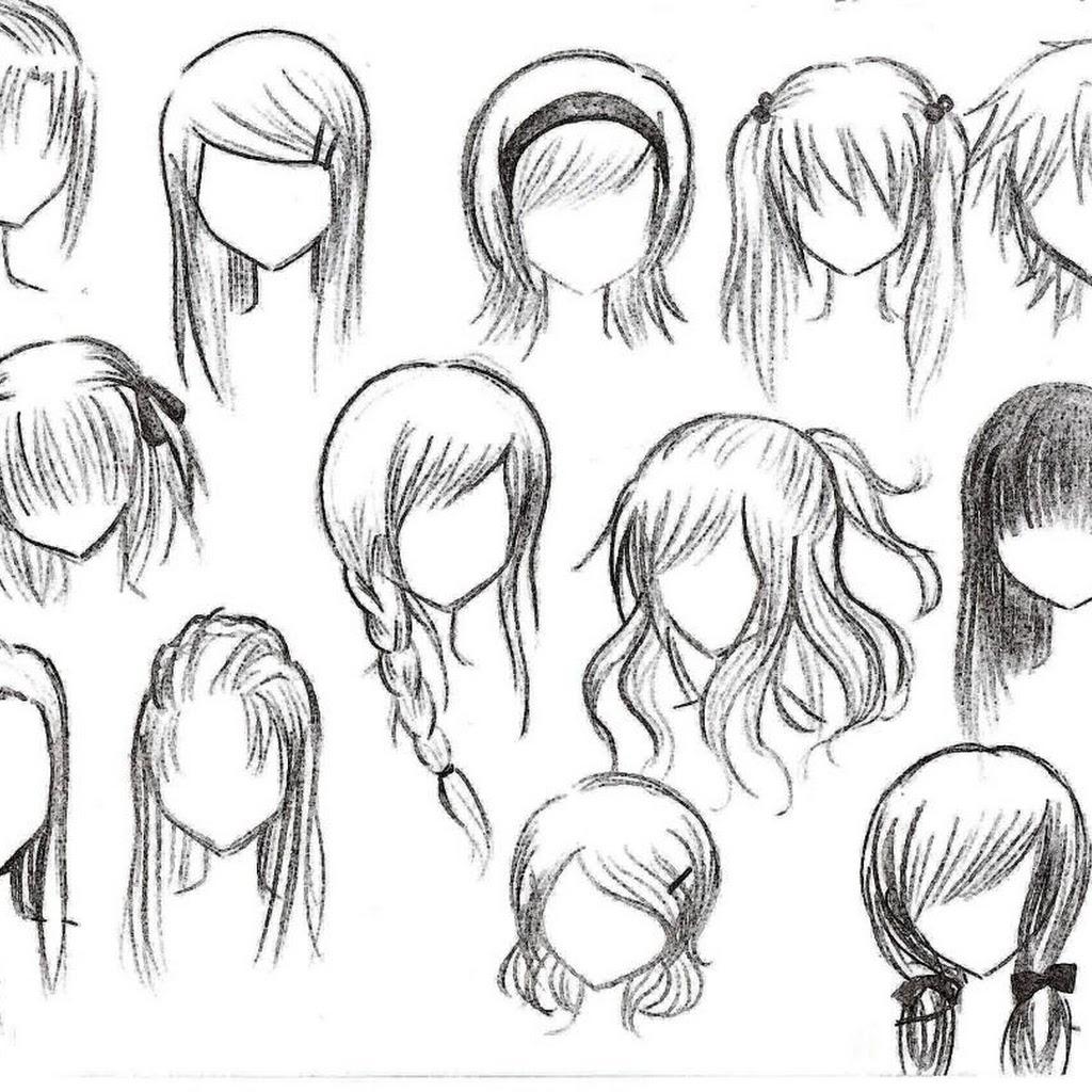 1024x1024 Anime Girl Hairstyles Drawings Anime Girl Hairstyles Drawings