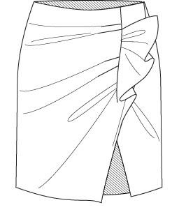 Short Skirt Drawing