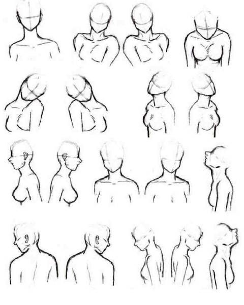 480x600 More Bust Shot Reference Poses Drawing Reference