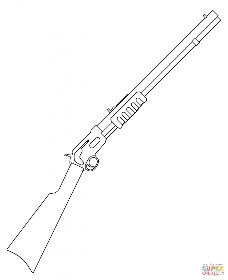 970x1190 Coloring Pages Rifle Coloring Pages Nerf Gun Page Rifle Coloring