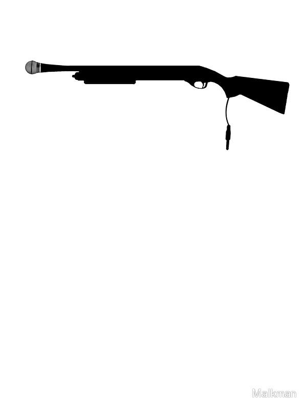 600x800 Shotgun Mic Stickers By Malkman Redbubble