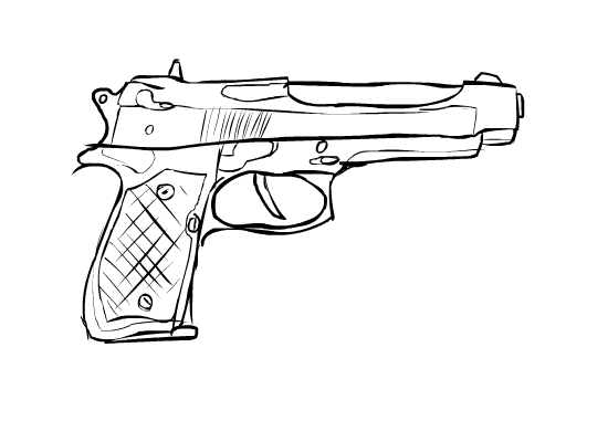 550x400 Wacom Beretta Sketch By Donzatch