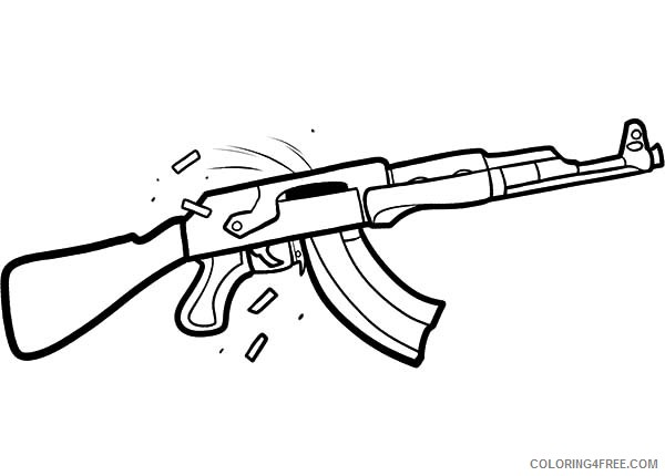 600x430 Gun Coloring Pages M16 Rifle Coloring4free