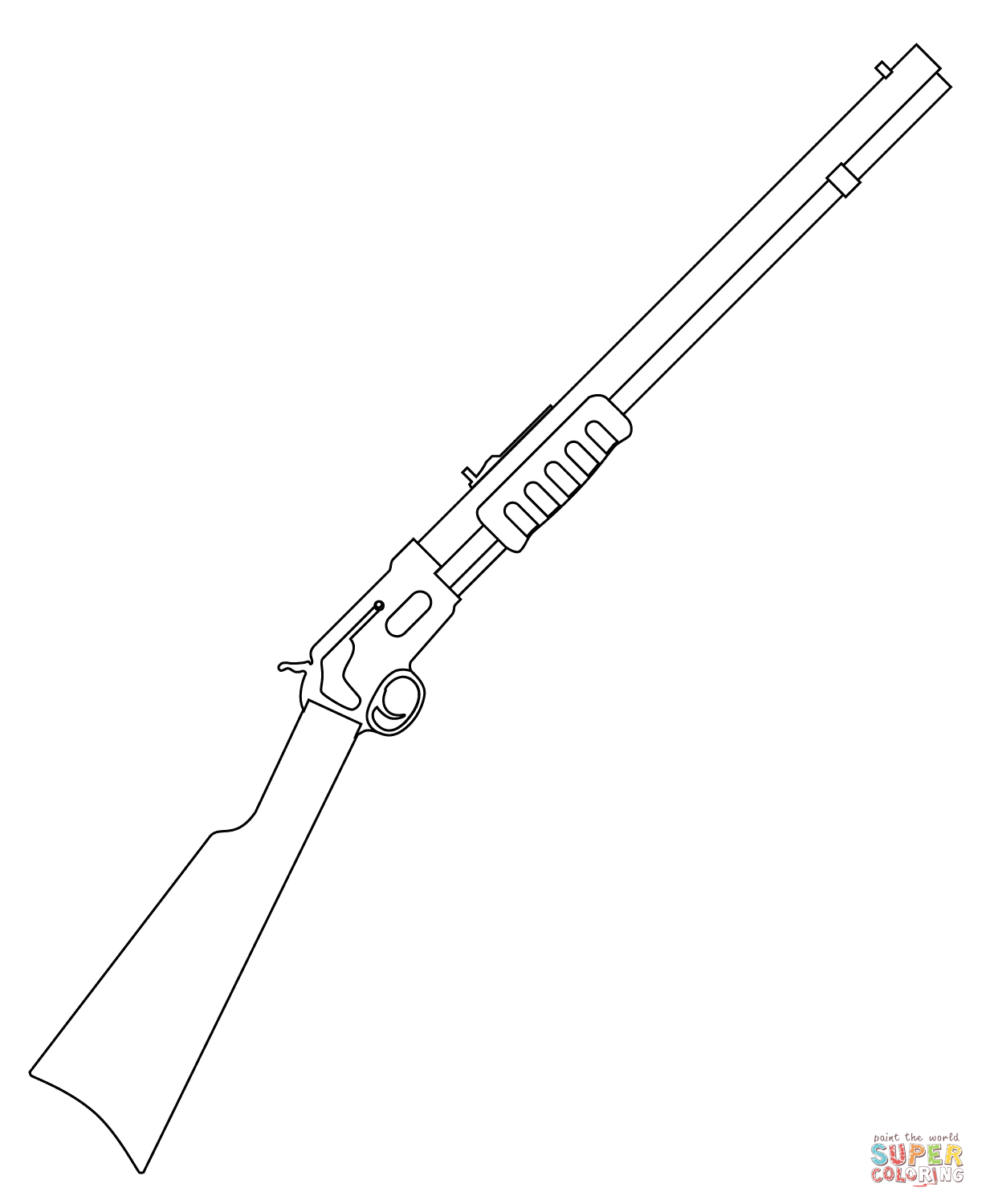 1223x1500 Shotgun Coloring Page Free Printable Coloring Pages