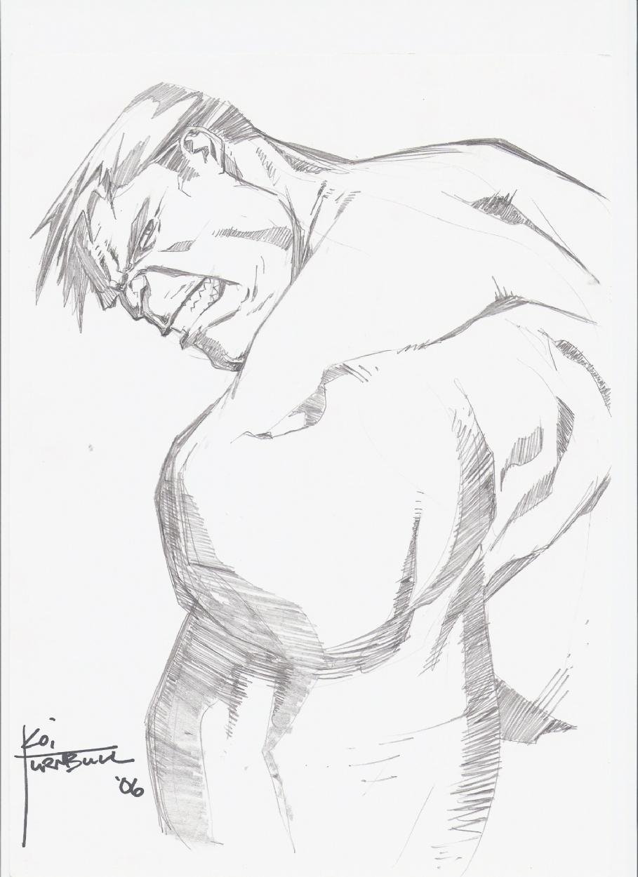 909x1250 Hulk Looking Over His Shoulder, In Dennis Hettler's Hulk Sketches