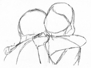 300x225 How To Draw People Hugging Frontal Over Shoulder People(Pose Ref