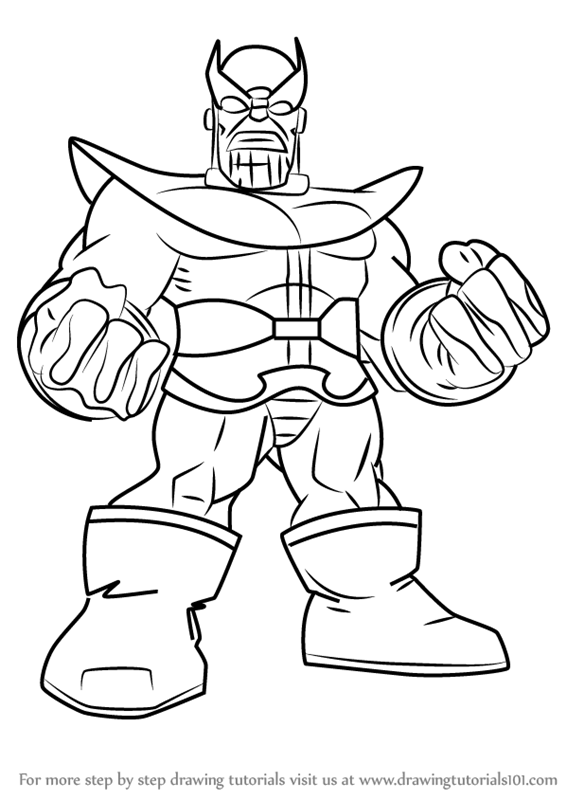 566x800 Learn How To Draw Thanos From The Super Hero Squad Show (The Super