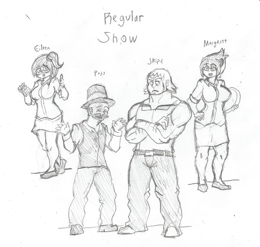 900x856 Regular Show More Humanized Characters By Brian12