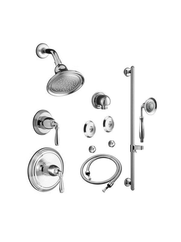 600x800 Kohler K Dev Bndl 4 304 Ks Cp Shower Systems, Rain Shower