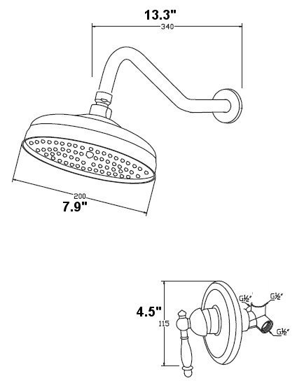 424x547 Brilliant Shower Head Drawing R And Decorating