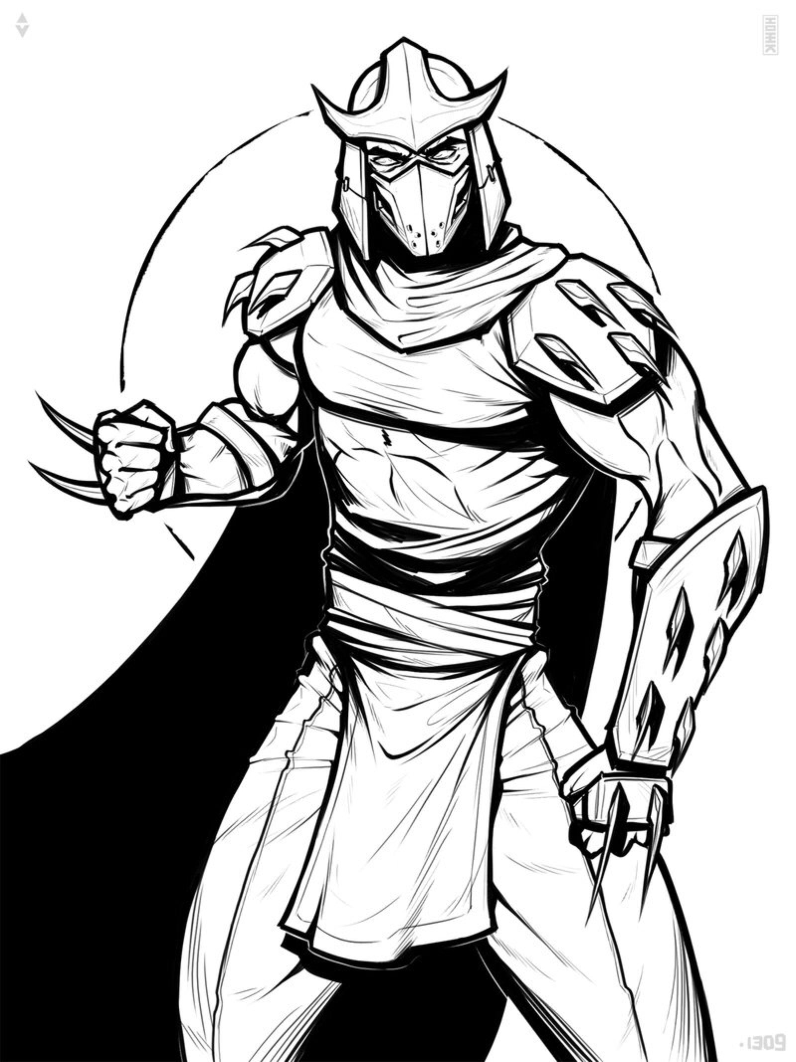 Shredder Drawing