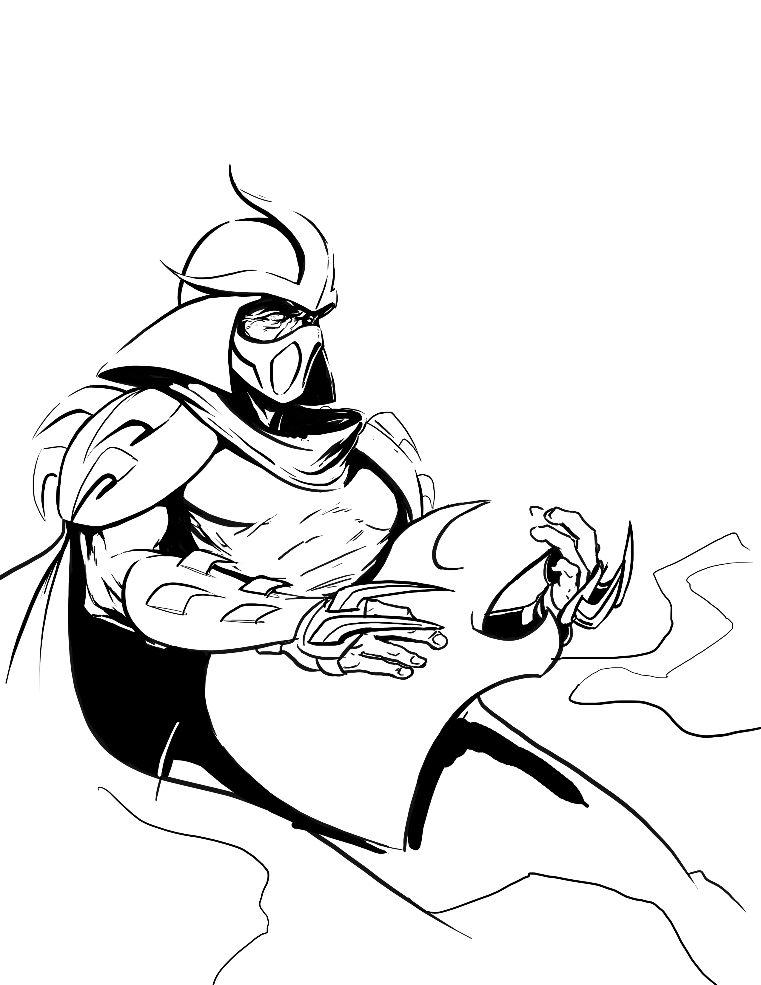 Shredder Drawing At Free For Personal Use Paper Wiring Diagram 2550x3300 Wip Zach Fischer Concept Artist Illustrator