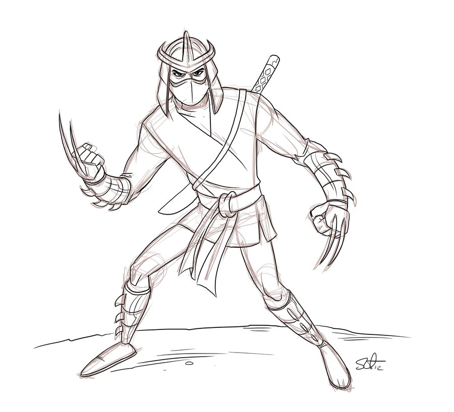 900x818 The Shredder Sketch. By Scootah91