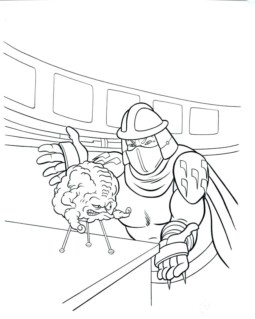 878x1097 Coloring Shredder Coloring Pages How To Draw Teenage Mutant Ninja