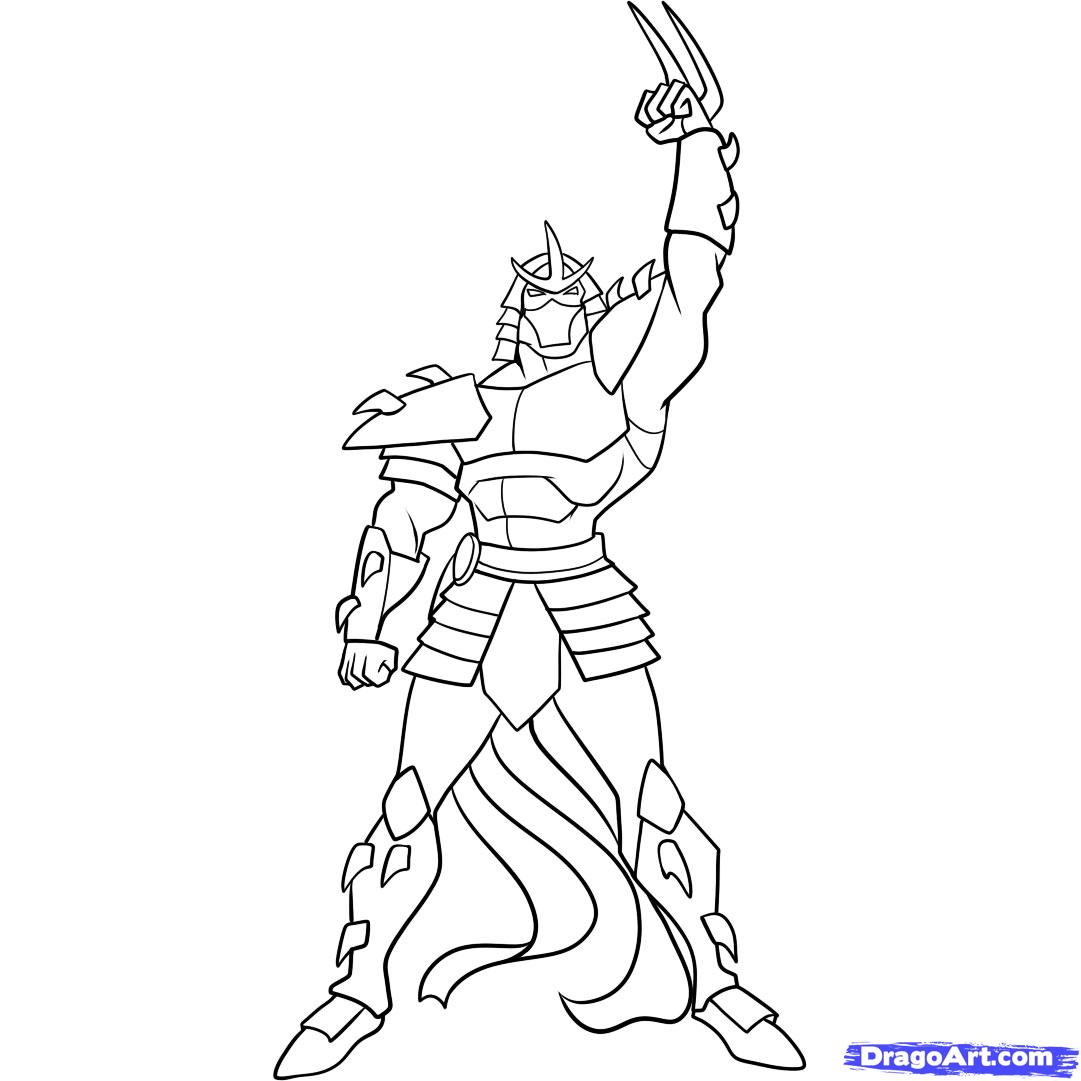 1081x1081 Ninja Turtles Coloring Pages How To Draw Shredder, Teenage