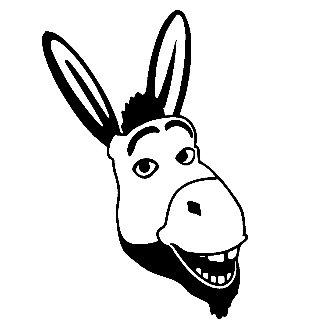 321x334 Donkey Shrek Face Vinyl Sticker Stickers