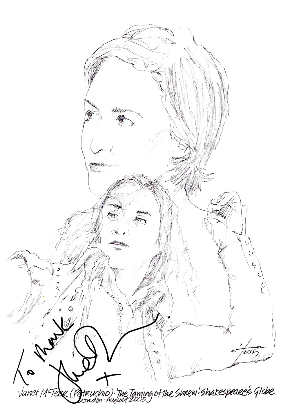 1000x1415 Drawing Janet Mcteer In The Taming Of The Shrew Chicanepictures