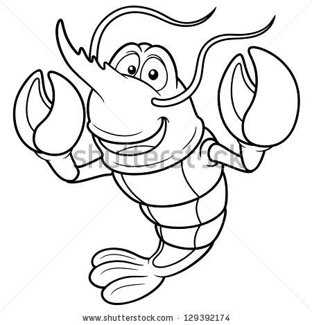 450x470 Shrimp Seafood Cartoon Vector Art, Art Illustrations And Royalty