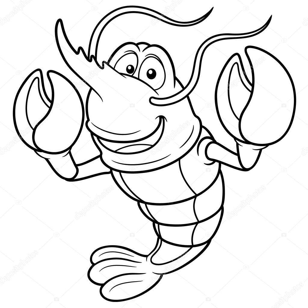 1024x1024 Cartoon Shrimp Stock Vector Sararoom