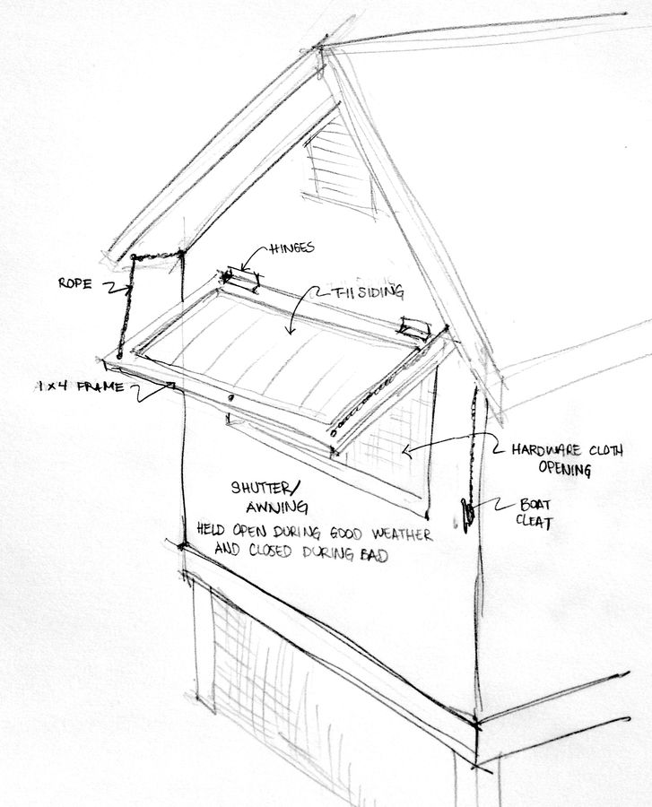 727x900 Concept Sketch Of Shutterawning For The Homestead