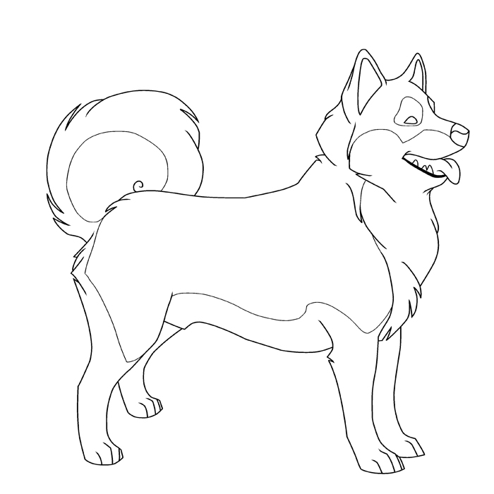 Siberian Husky Drawing at GetDrawings.com   Free for personal use ...