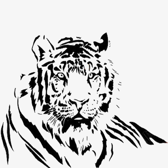650x650 Pencil Painting Flame Tiger, Hand, Pencil Drawing, Fire Tiger Png