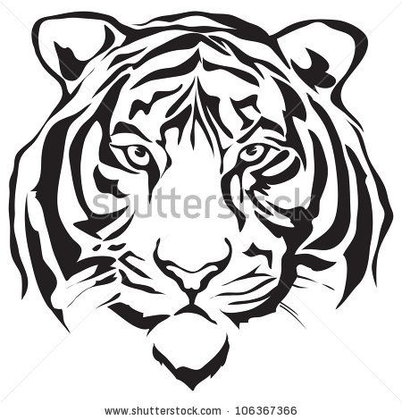 450x470 Siberian Tiger Tattoo Designs Vector Download Tiger Head