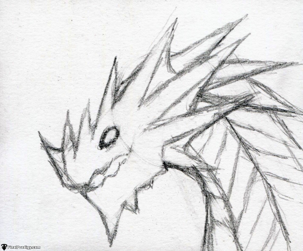 1024x846 Dragon Head Drawing How To Draw A Dragon Head Side View