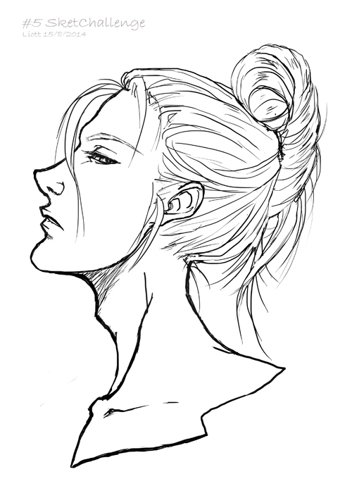 Side Of Face Drawing