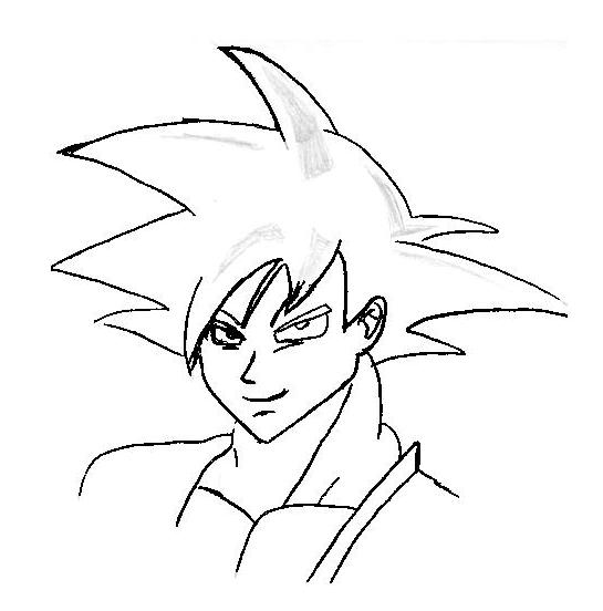 545x552 Goku Face Side View By Mckay1234