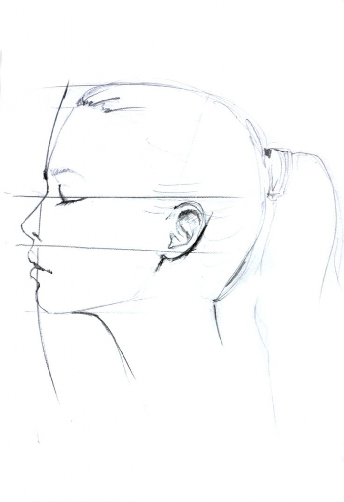 702x1024 how to make a side face sketch 1000 ideas about profile drawing