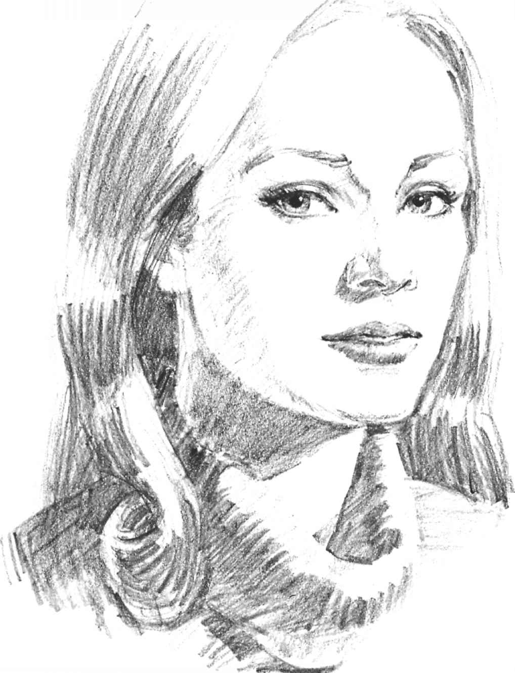 Side Portrait Drawing at GetDrawings | Free download