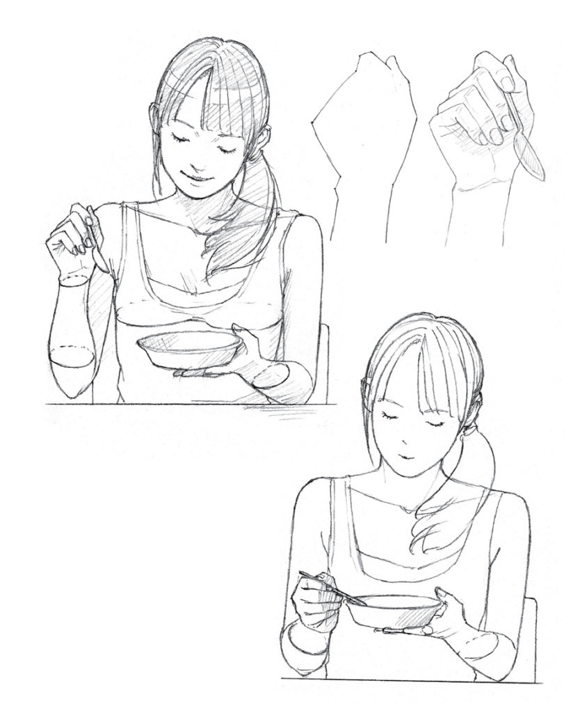 834x1024 Drawing Manga Poses Illustrating Common Scenarios