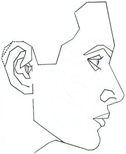 247x300 Face Profile Outline