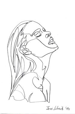 250x380 Pictures Line Drawing Female Face Profile,