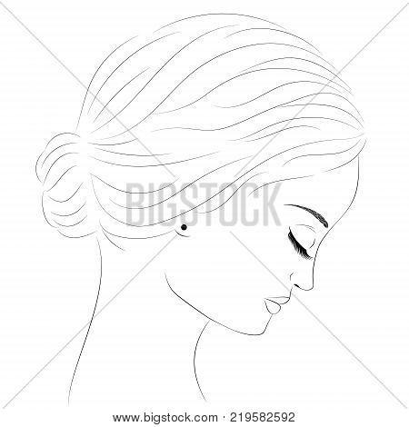 450x470 Side Profile Face Images, Illustrations, Vectors