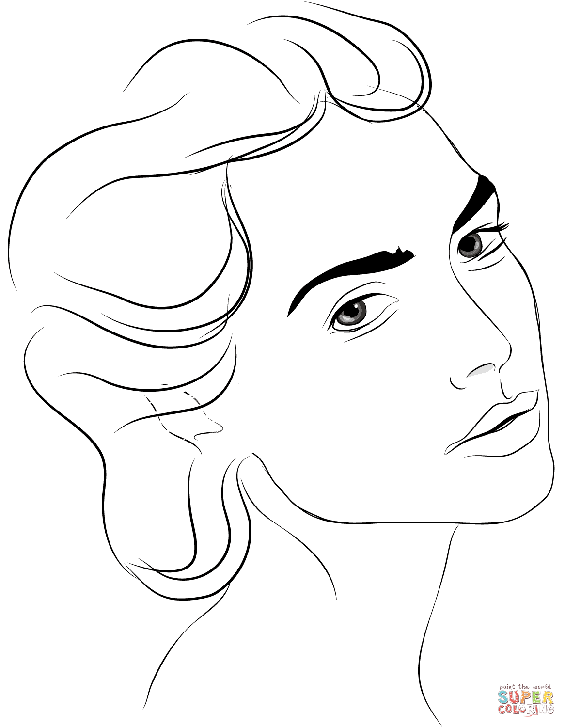 1166x1500 Woman's Side Profile Coloring Page Free Printable Coloring Pages
