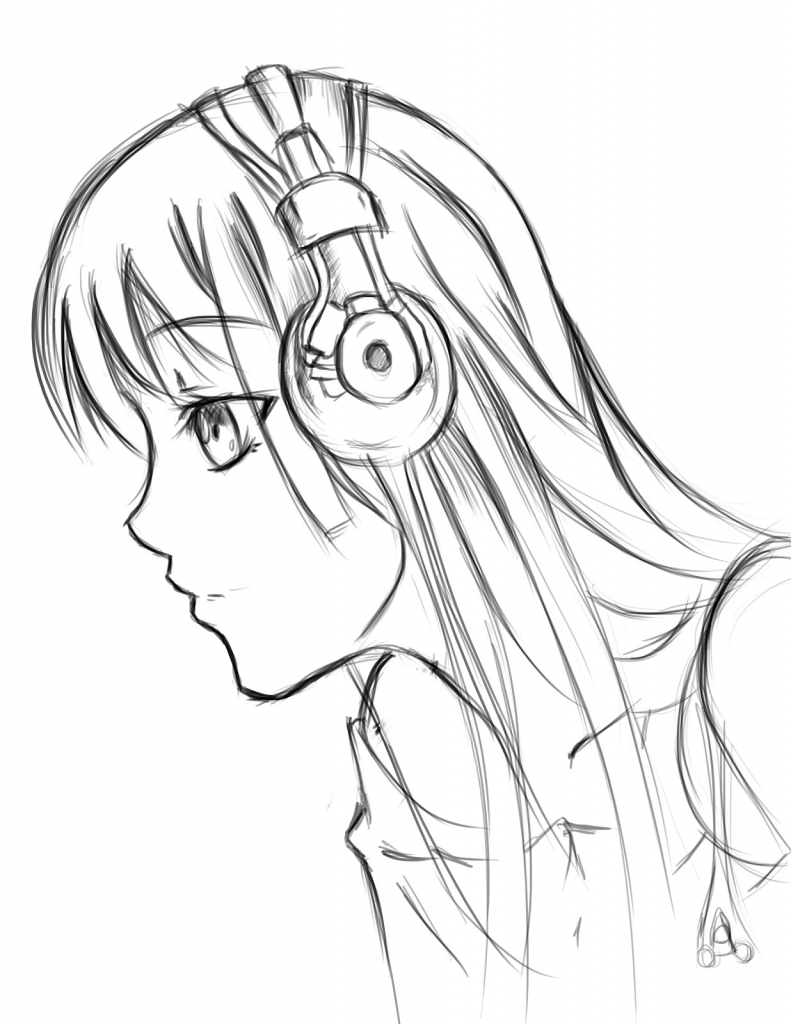 791x1024 Anime Girl Face Side Profile Anime Side View Cartoon Side Face