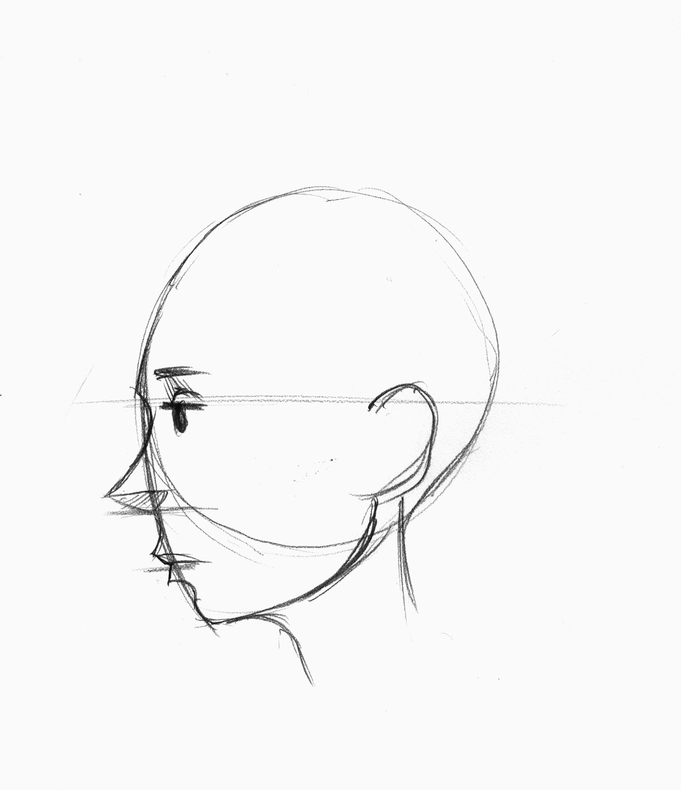1381x1600 Drawing A Face Profile How To Draw The Female Face Side Profile