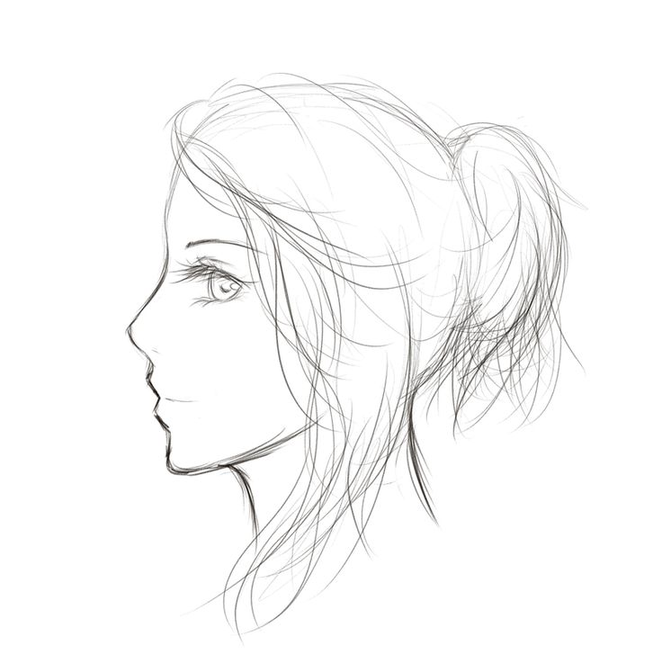 736x747 Gallery Girl In Side View Sketch,