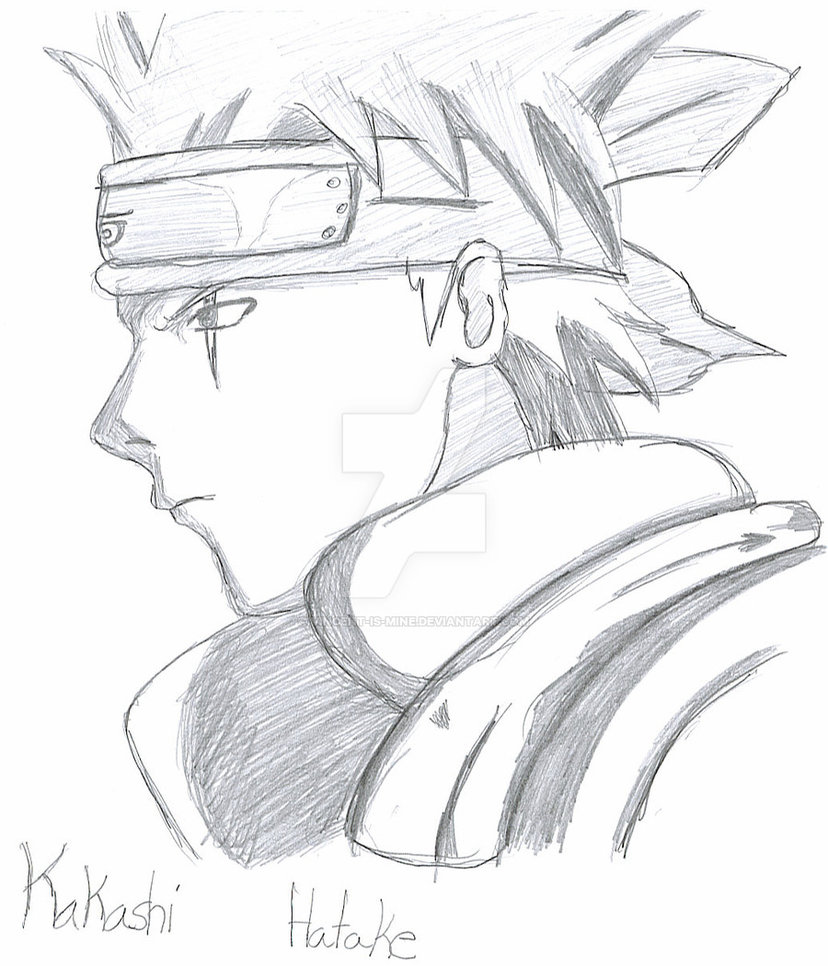 828x966 Kakashi Without Mask Side View By Vincent Is Mine