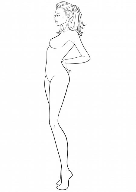 450x636 Side View I Draw Fashion