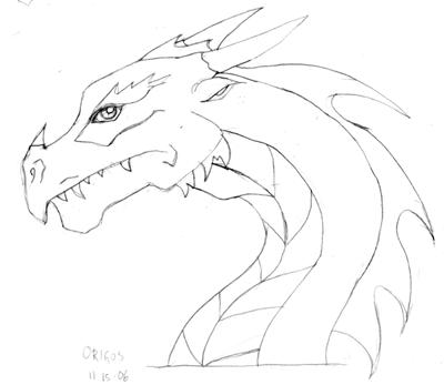 400x347 Dragon Head, Side View By Zenofken